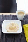 Parfait with coffee