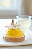 Mango tartlet with meringue