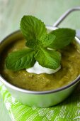 Courgette soup with mint