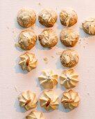 Almond biscuits and piped biscuits