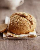 Rustic bread with oats