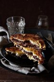 French toast with chocolate spread
