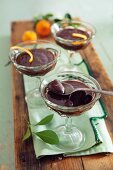 Provençal chocolate cream with orange zest