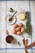 Ingredients for Making Rosemary Corn Cake