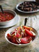 Traditional Georgian tomato salad.