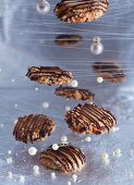 Hazelnut and toffee biscuits for Christmas
