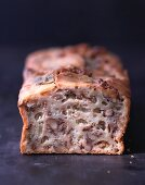 Walnut cake with porcini mushrooms