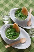 Creamed snowpeas, beans and peas, Italy