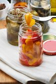 Home made peppers in olive oil, Italy, Europe