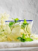 Hugo (cocktail with Prosecco, elderflower syrup and mint)