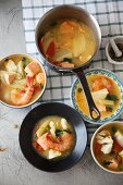 French fish soup with prawns, wild salmon and cod