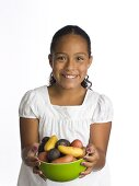 A Young Girl with a Bowl of Raw Potatoes