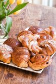 A Platter of Pastries including Croissants and Danish