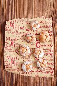 Home-made amaretti (almond biscuits, Italy) for Christmas