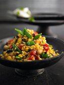 Yellow lentil couscous
