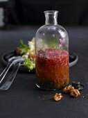 Vinaigrette made from small, green, unpeeled lentils