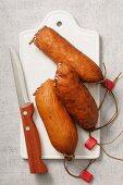 Saucisse de Morteau (smoked sausage, France)