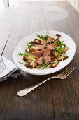 Duck breast with wild mushrooms