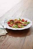 Potato salad with Mettwurst (raw minced pork spread)