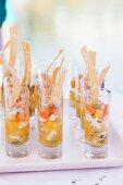 Ceviche Appetizer in Shot Glasses