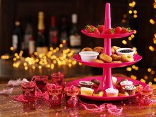 A Christmas buffet with assorted desserts