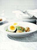 Frankfurt 'Green Sauce' with potatoes and egg