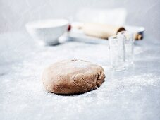 Dough for Pfeffernüsse (spiced soft gingerbread from Germany)