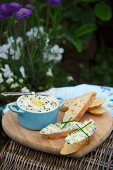Mackerel cream with chives and lemons
