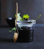 Blackcurrant compote with vanilla and star anise