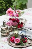A hot rose sleeping draught in silver decorated tea glasses