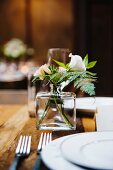 rustic spring wedding table setting