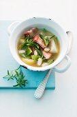 Bean stew with pork belly