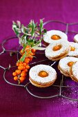 Biscuits with sea buckthorn filling