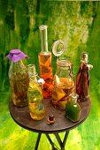 Flavoured oil in bottles