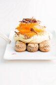 Tiramisu with oranges