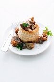 Vol au vent with mushrooms