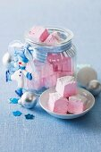 Rosewater and raspberry marshmallows