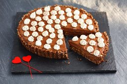 Banoffee Pie with chocolate and whipped cream