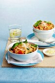Linguine with tomatoes, basil and Parmesan