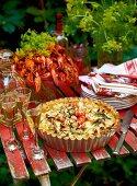 Crayfish pie with aquavit