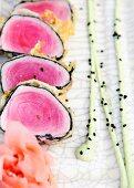 Tuna sushi (close-up)