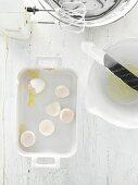 Eggshells and a mixer