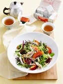 Oriental poached chicken salad