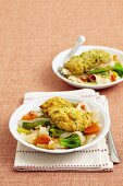 Coconut chicken with vegetable noodles