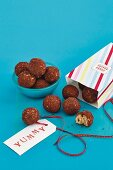 Sweet ricotta and peanut balls