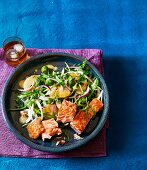 Salmon with a fennel and orange salad