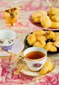 Honey and lemon madeleines with a sugar glaze
