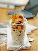 Take away muesli with fruits