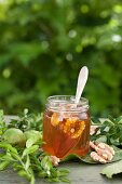 Walnuts in pine honey