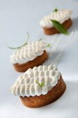 Banana cakes topped with meringue